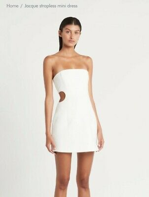 SIR the label - Jacque Strapless Mini Dress - White - Size 1