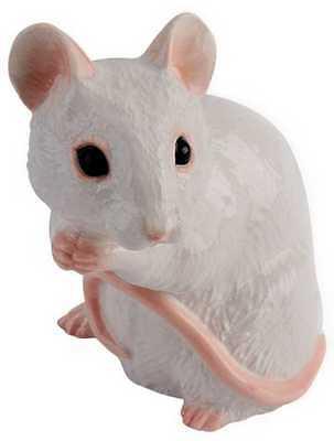 New boxed JOHN BESWICK The Adorables RSPCA white mouse ornament JBTA7W