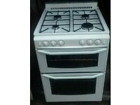 "GAS COOKER "" NEWHOME "" 60CM. GLASS LID"
