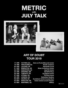 Metric with July Talk 4x Tickets