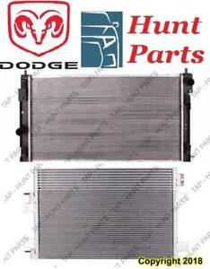 All Dodge AC compressor Condenser Radiator Support Fan Cooling Compresseur AC Condenseur Radiateur Support Ventilateur