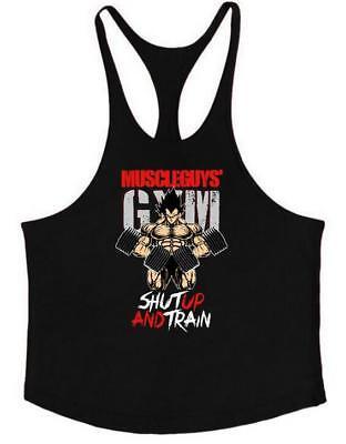 Men's Stringer Muscle Bodybuilding Shirt Tank Top Gym Singlet Fitness Sport Vest Cotton Stringer Tank Top