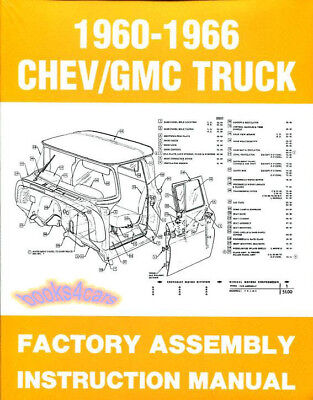 ASSEMBLY MANUAL TRUCK RESTORATION GUIDE CHEVROLET GMC RESTORE BOOK FACTORY 60-66 ()