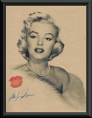 Marilyn Monroe Autographed Photo Reprint On 60 Year Old Paper  P066