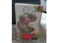 Brand new in box Espresso Cups and Saucers gift set