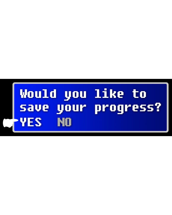 Would you like to save your progress? Bookmark -Laminated Final Fantasy Bookmark