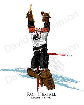 Nhl Philadelphia Flyers Ron Hextall Scores Art Giclee By David E  Wilkinson