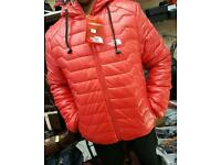 North face men's number jacket with hood and with headphnes built in. Bargain price £45.
