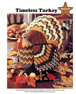 Timeless Turkey Centerpiece & Easter Bunnies plastic canvas patterns