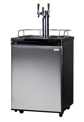 Kegco Homebrew Kegerator Triple Faucet Ball Lock Keg Dispenser Stainless Steel