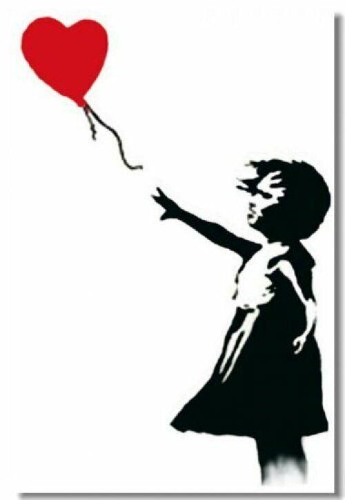 Poster Banksy Peace Room Art Wall Cloth Print 503