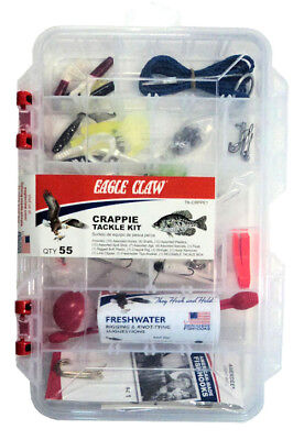 Eagle Claw Crappie Tackle Kit - 55 Piece Fishing Tackle Kit Bargain  #TK-CRPPE1 Crappie Fishing Tackle