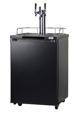 Kegco Homebrew Kegerator Triple Faucet Ball Lock Keg Dispenser Black