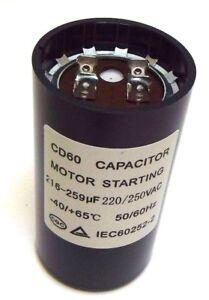 Motor Start Capacitor Round  216-259 uF MFD 220 V 250 V 220/250 VAC 46x86mm CD60