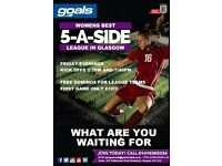 Players wanted for women's 5 a side team | Friday Nights