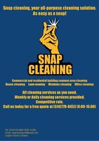 Snap cleaning, your all-purpose cleaning solution.