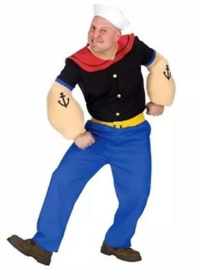 Halloween-kostüm Popeye (Popeye Halloween Costume With 2 Sailor Hats And Pipe)