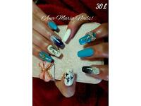 Gel Nails extensions,Individual Eyelashes!!