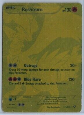 Pokemon - Reshiram - Legendary Treasures 114/113 - Gold Secret Rare - MP