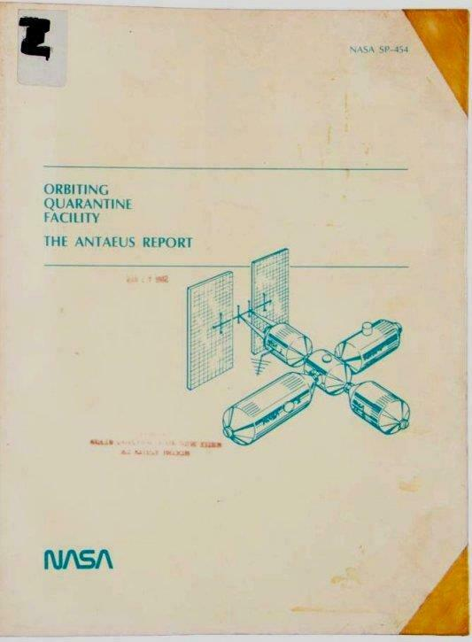 1981 NASA Quarantine plan for EXTRATERRESTRIAL GERMS