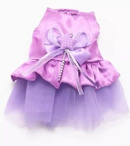 XS Purple Puppy Dog Dress with Bow Oaks Estate Queanbeyan Area Preview