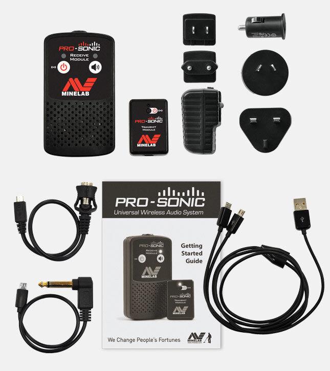 Minelab PRO-SONIC Universal Wireless Audio System - For Minelab Metal Detectors