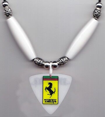 Dir en grey Toshiya Bass Guitar Pick Necklace White Beads