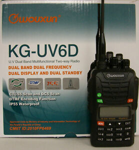 NEW WOUXUN KG-UV6D V2  VHF/UHF HT FREE Prog Kit+Prior Mail Ship- 2013 Compliant