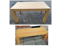 IKEA Oak Table & Bench FREE DELIVERY 4449
