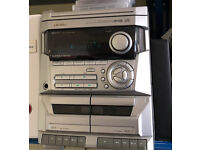 Retro 3 CD player with double cassette deck