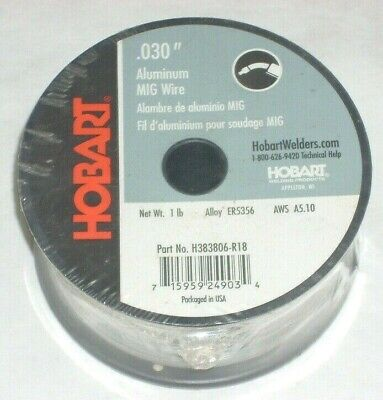 2 Hobart 5356 Aluminum Mig Welding Wire 1 Lb Rolls .030 Usa Made 2 Lbs Total