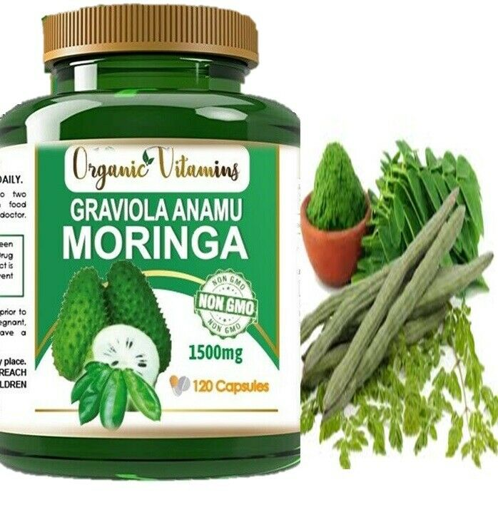 Moringa Oleifera Organic, Natural, 100% Pure Pills - 120 Count - 1 Pack