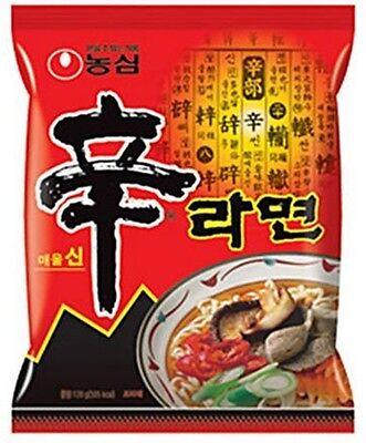 Shin Ramyun Korean Noodle Spicy Tasty Beef Soup Korea Ramen Hot Nongshim (1 pcs)