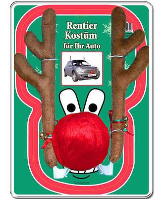 45cm Rentier Kostüm Auto Rudolf Rentierkostüm Red Nose Autokostüm Elch (Auto Kostüm Rentier Geweih)