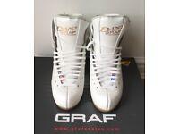 Graf Dance White Ice Skates - 6.5 Medium Width - New