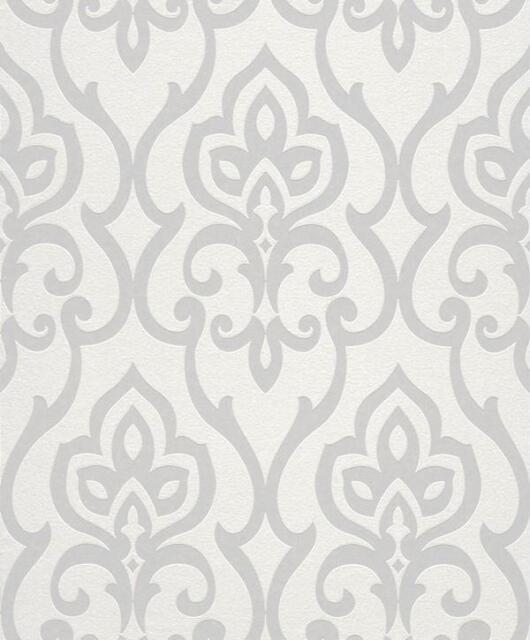 Vlies Tapete Rasch b.b. home passion 4 717068 weiß silber orientalisch Ornamente