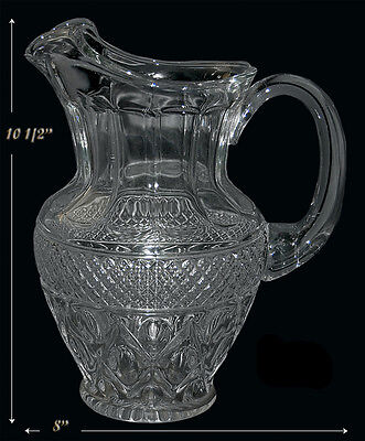 Imperial Cape Cod Crystal Blown Ice Tea Pitcher WOW!