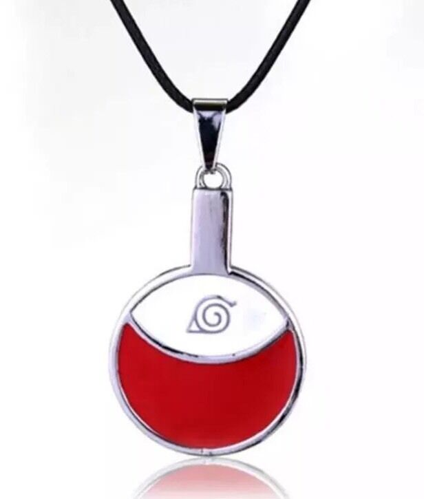 "Naruto Uchiha Clan Logo Necklace Sasuke Itachi Anime 1.5"" US Seller"