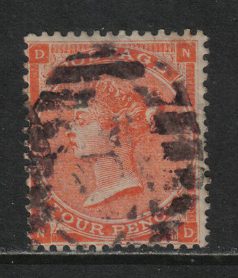 Great Britain 1862 Queen Victoria 4p vermillion (34b) used for sale  Shipping to India