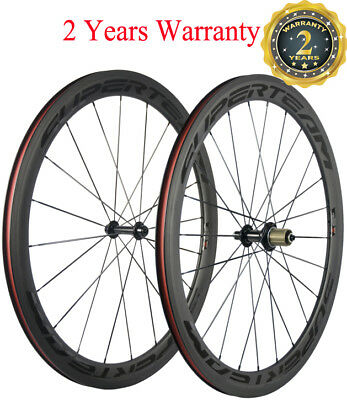 Superteam Road Bike Wheels 50mm Carbon Fiber Wheelset Clincher Bicycle Wheelset