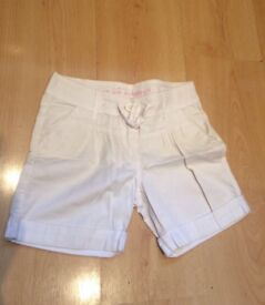 NOW REDUCED /Girls White Shorts