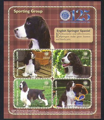 Sierra Leone 2009 Spaniel/Dogs/Animals/Nature/Pets/Kennel Club 4v m/s (n35032)