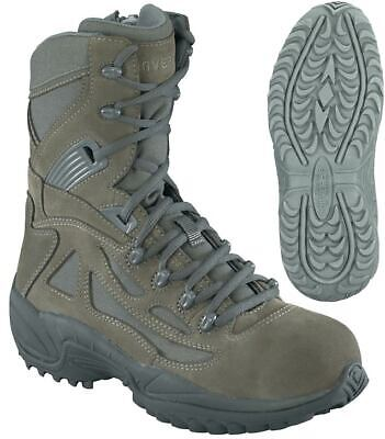 - CONVERSE SAGE GREEN LEATHER CANVAS UPPER SIDE ZIP 10 1/2 REG BOOTS STEEL TOE