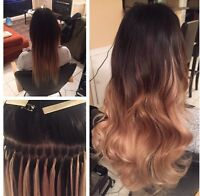 TAPES AND FUSIONS! HAIR EXTENSIONS $300+