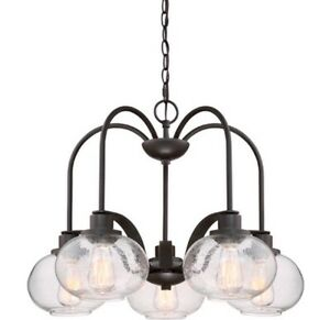 Brand New - 5 Light Shaded Chandelier