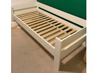 Brand new kids/single/spare bed from Wayfair - white modern design