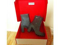 Hunter high heeled boots sz 7