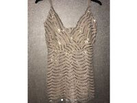 Gold playsuit womens