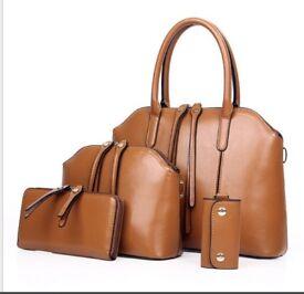 New fashion Ms. retro oil wax leather bag portable diagonal package shoulder bag
