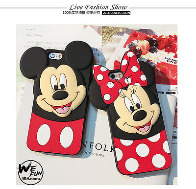 Disney Mickey Minnie Mouse Polka Dot Bow Tilt Ears soft case For Various Phones